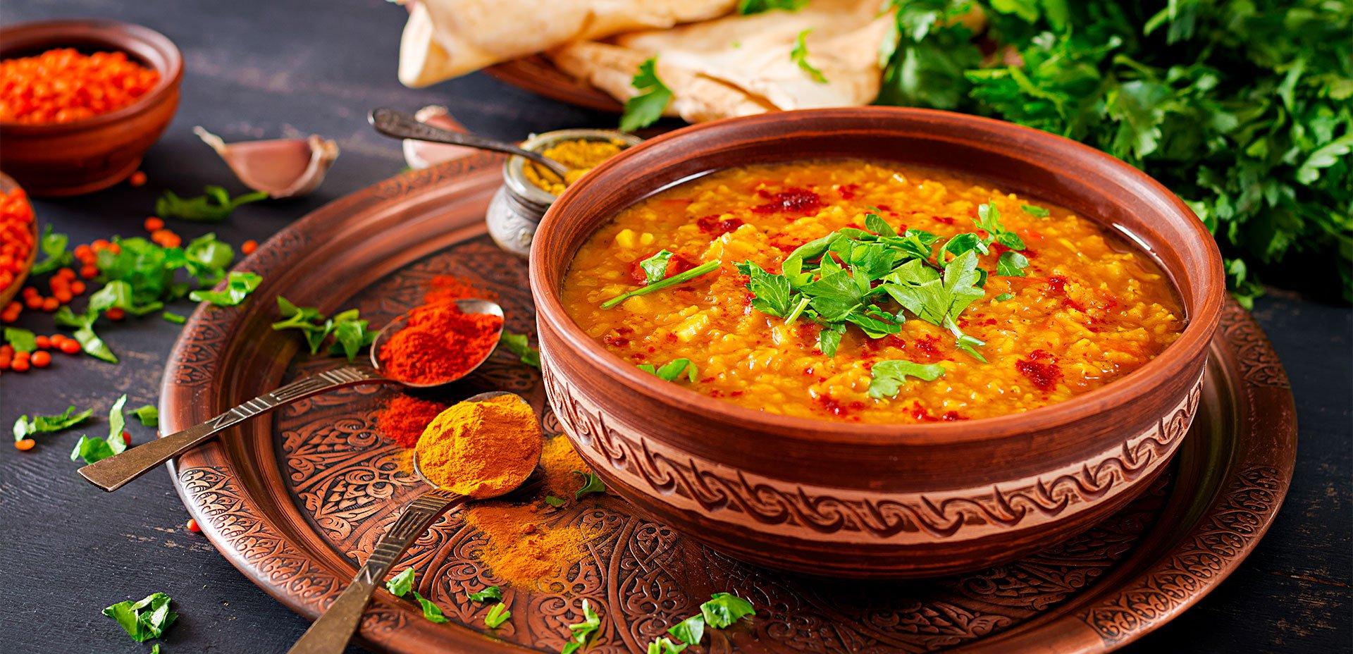 lenticchie e spezie indiane