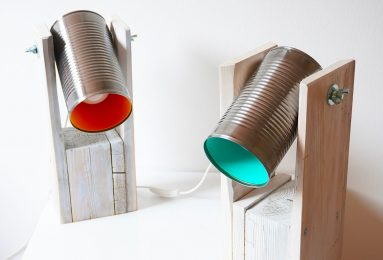 Eco design, lampada Tinpal