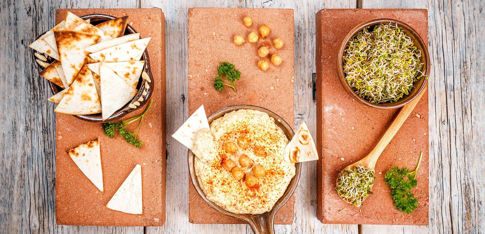 hummus classico e pita
