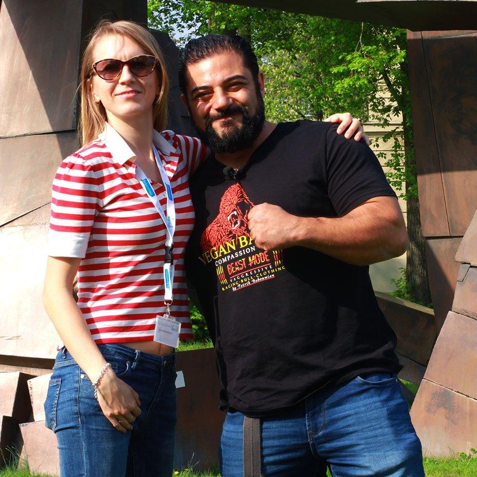 Patrik Baboumian e Julia Ovchinnikova, Veggie Channel