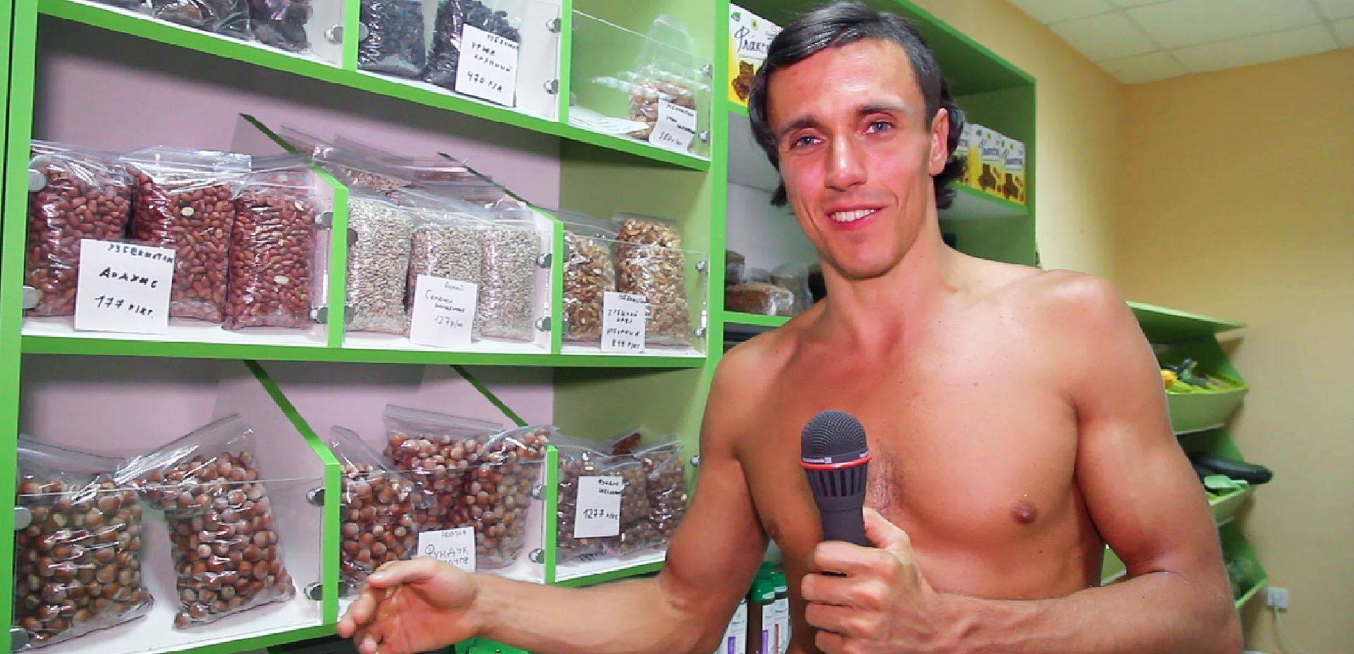 Vegan crudista scalzo in Russia