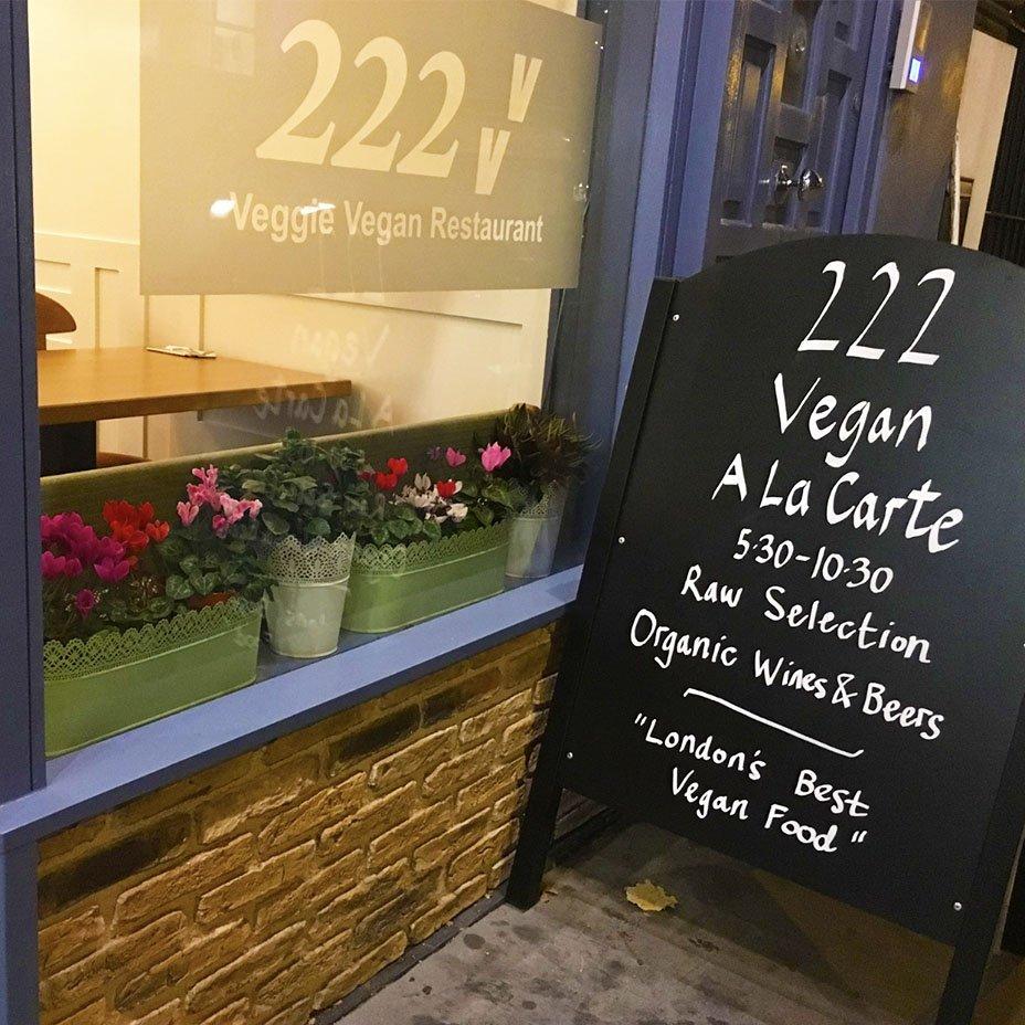 """""""222 Vegan Cuisine"""" restaurant"""