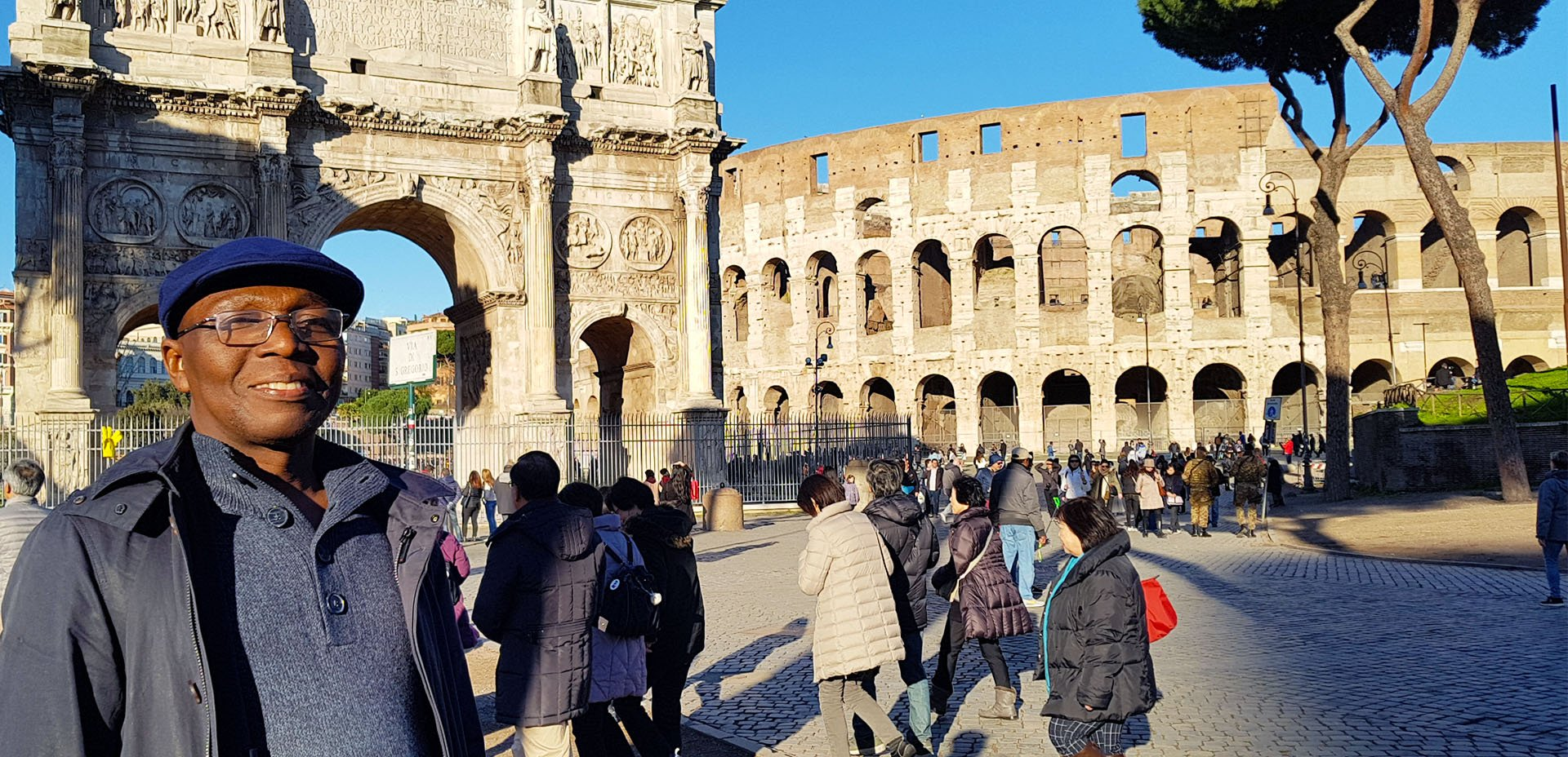 Ben Asamani a Roma, Colosseo