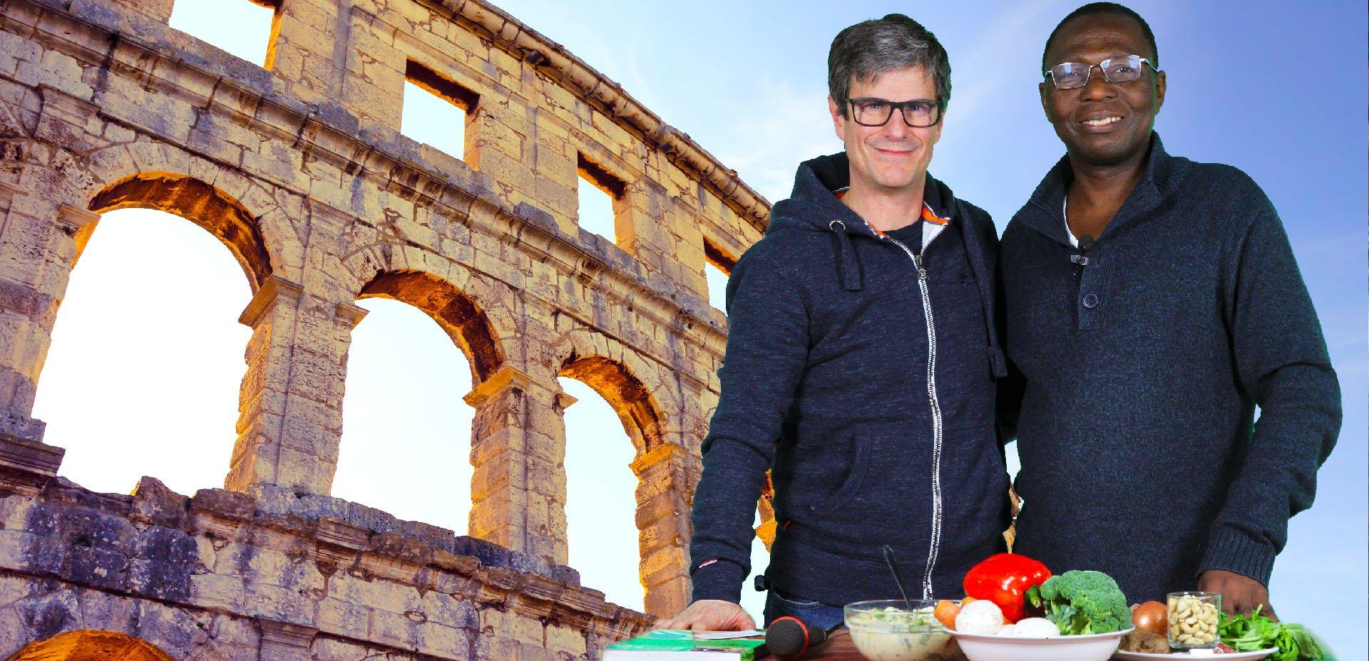 "Ben Asamani ""222 Vegan Cuisine"" e Massimo Leopardi ""Veggie Channel"""