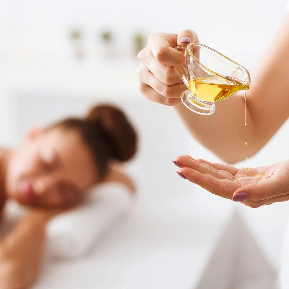 olio extravergine d'oliva e massaggio