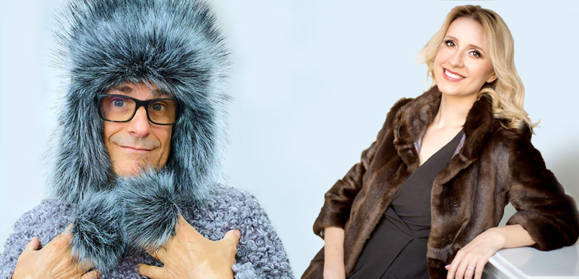 Massimo Leopardi in pelliccia sintetica