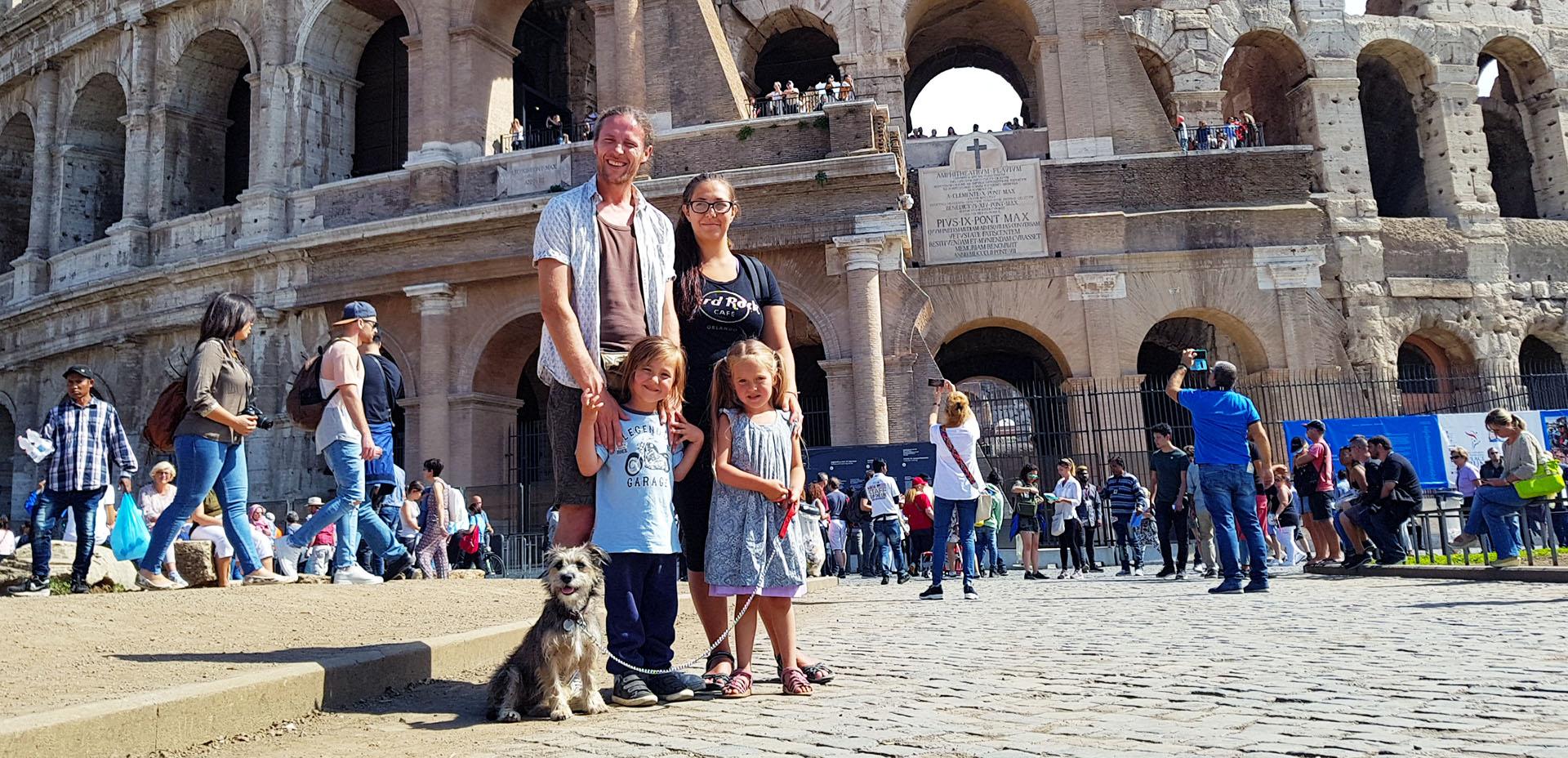 una famiglia inglese in Italia