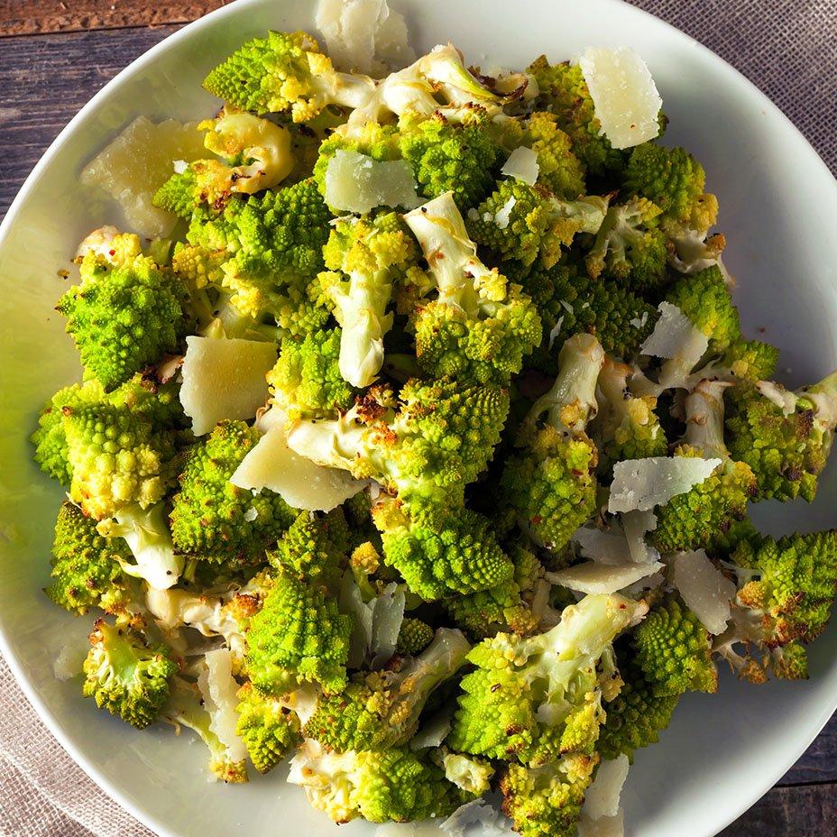 germogli fritti di broccolo romano