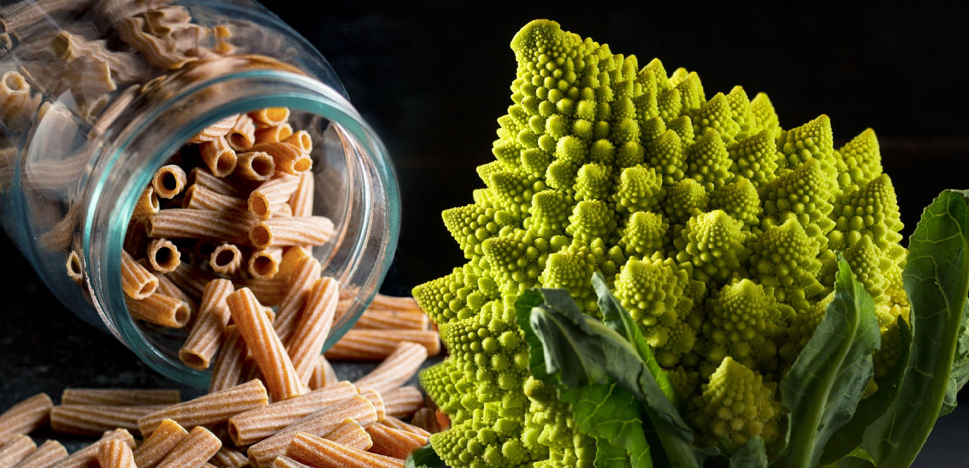 ingredienti per la Pasta con broccolo romano
