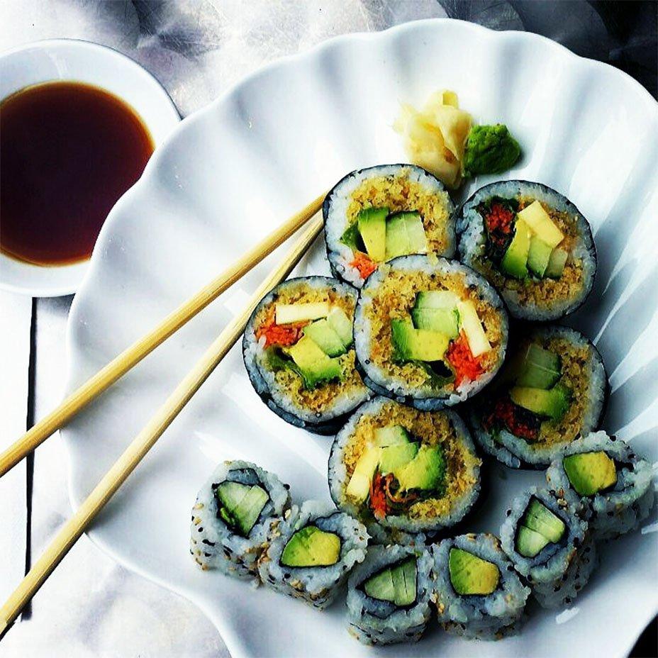 raw vegan rolls