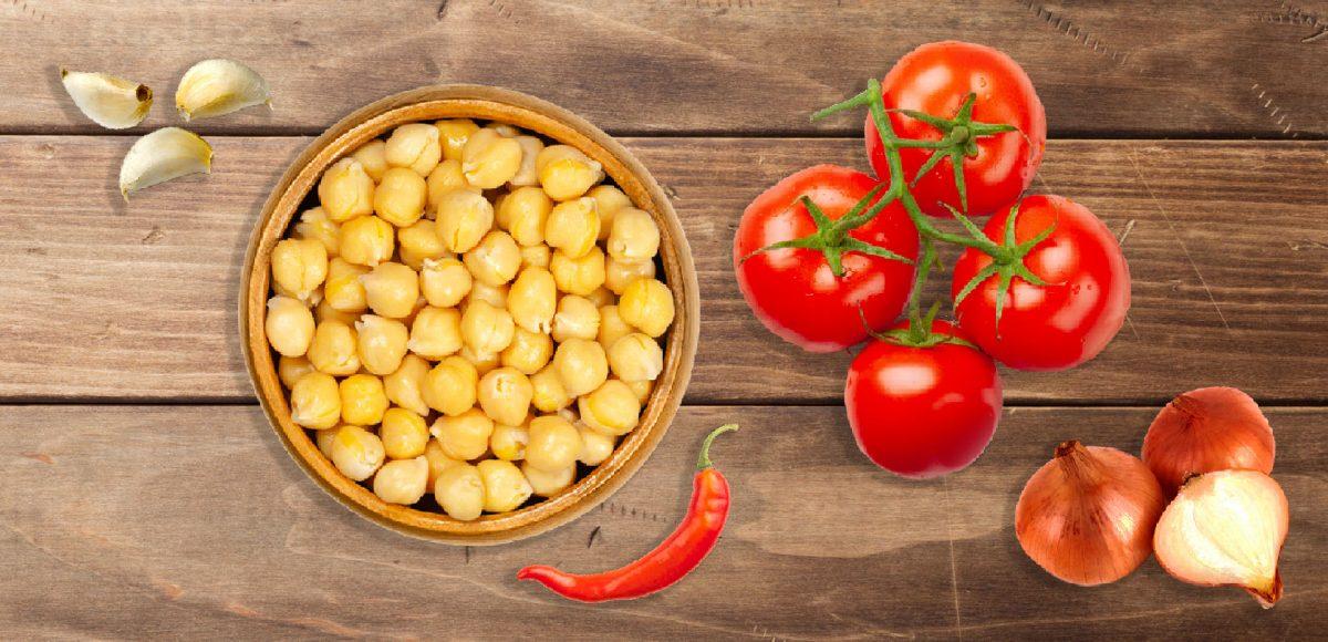 ingredienti per i ceci in tegame