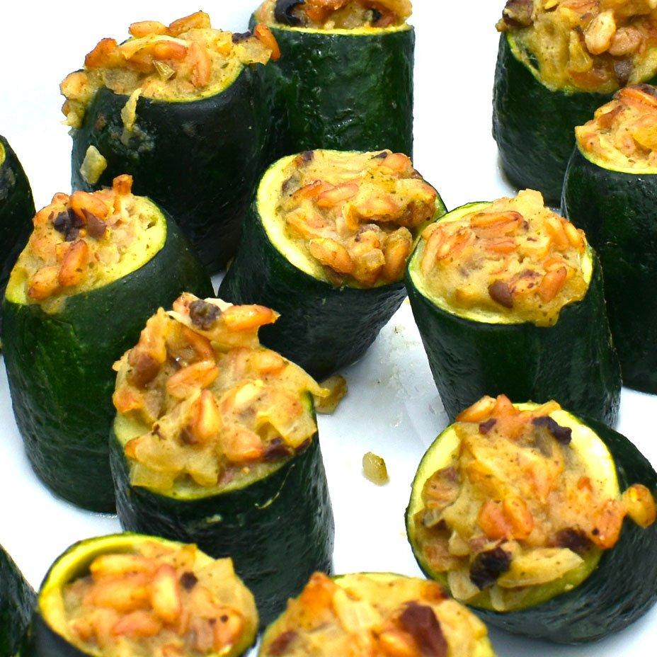 cestini di zucchine con farro e olive