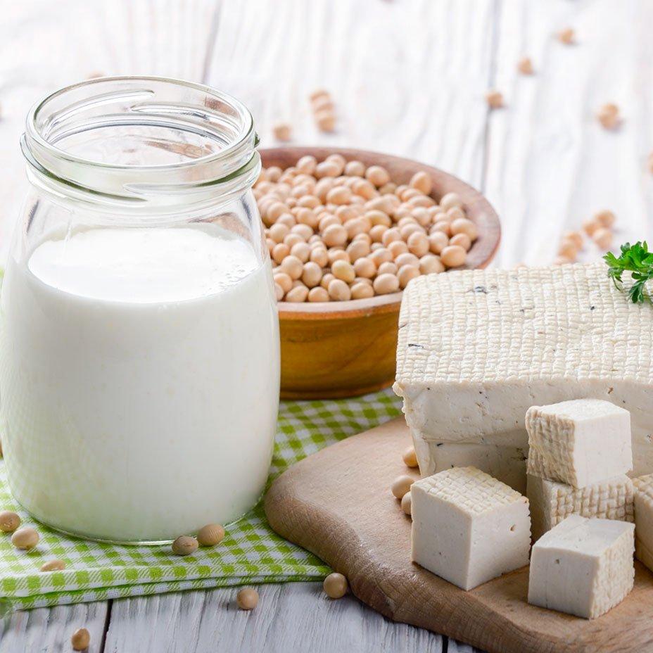 tofu e latte di soia