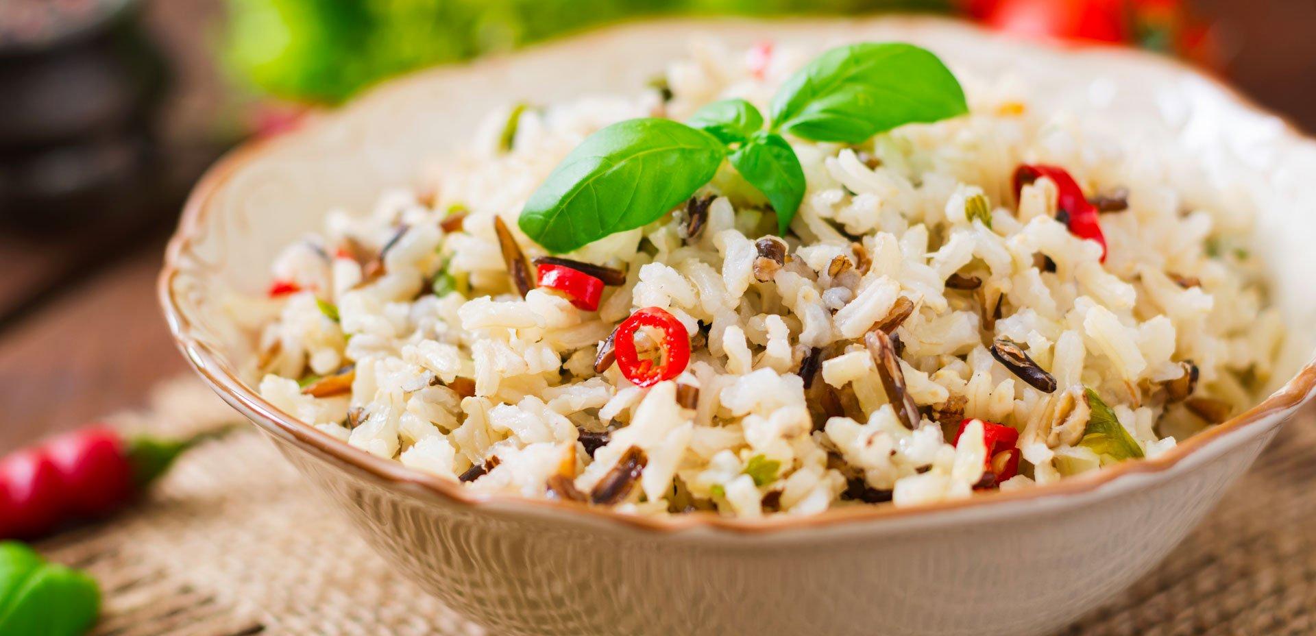 piatto di riso integrale