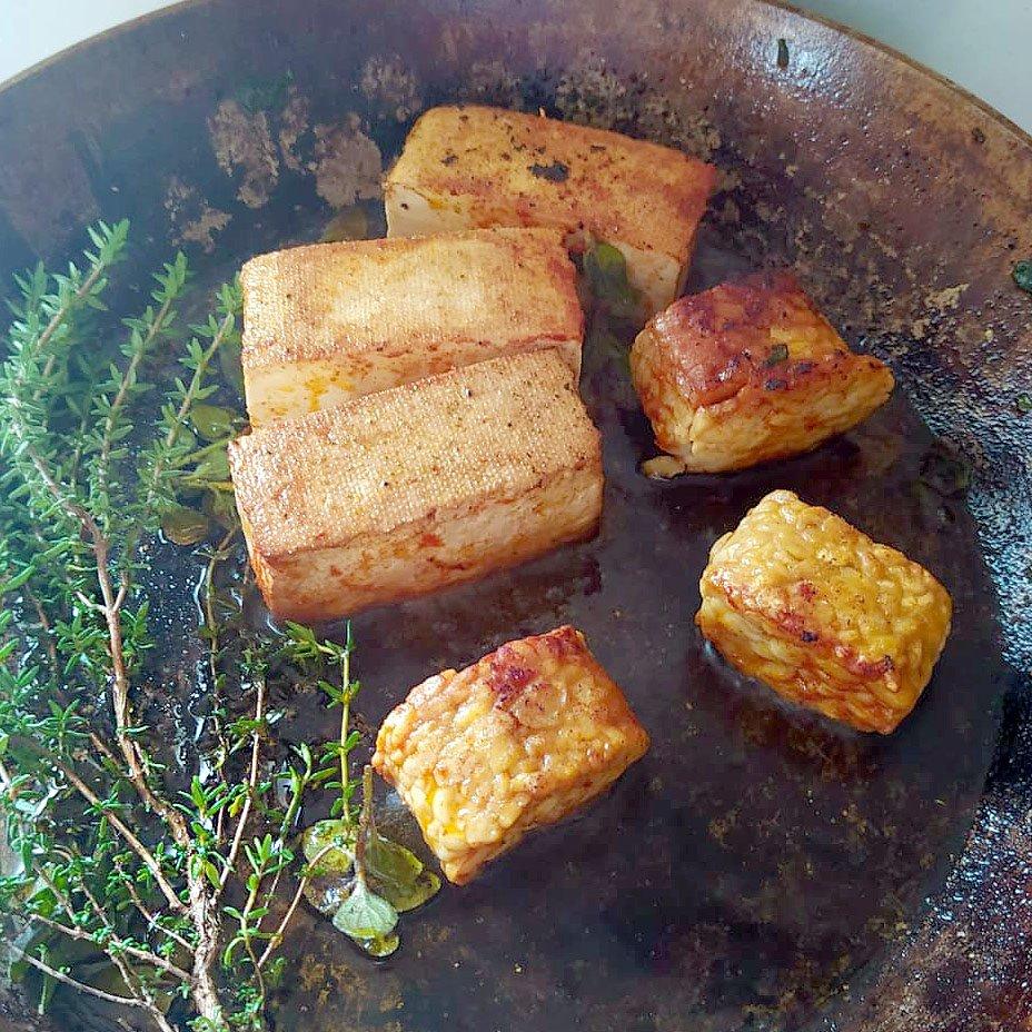 tofu e tempeh per l'arrosto natalizio