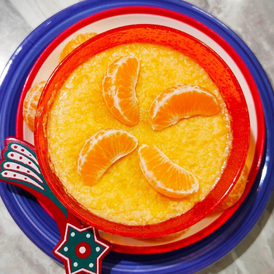 Crema di clementine alle mandorle