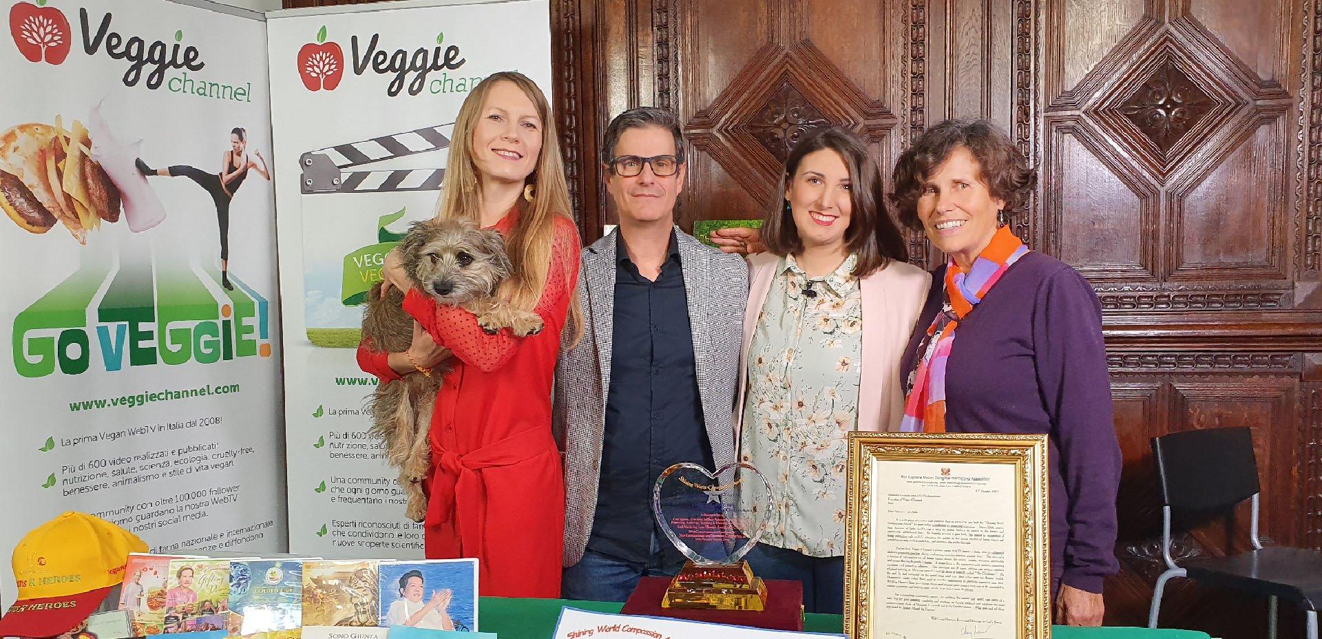 Premiazione Shining World Compassion Award - Veggie Channel