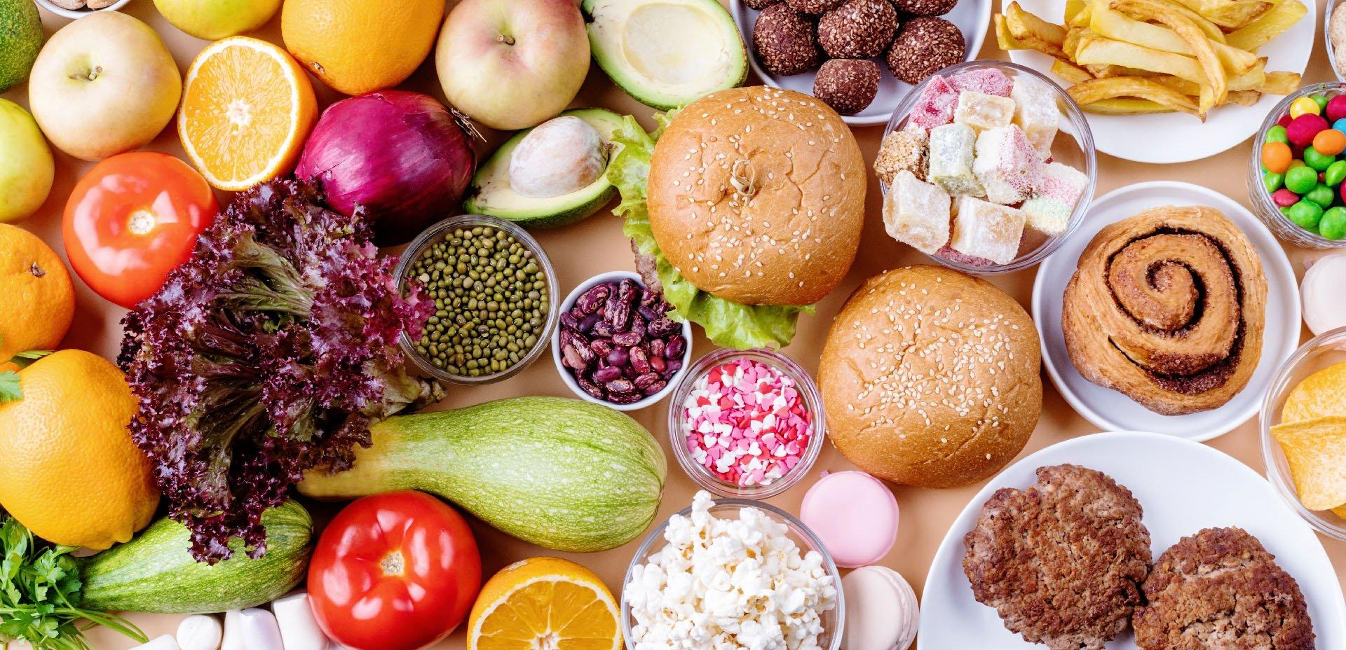 cibo salutare vs cibo spazzatura