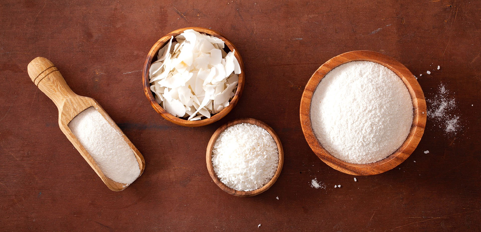 farina e scaglie di cocco