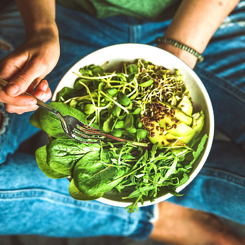 germogli nell'insalata