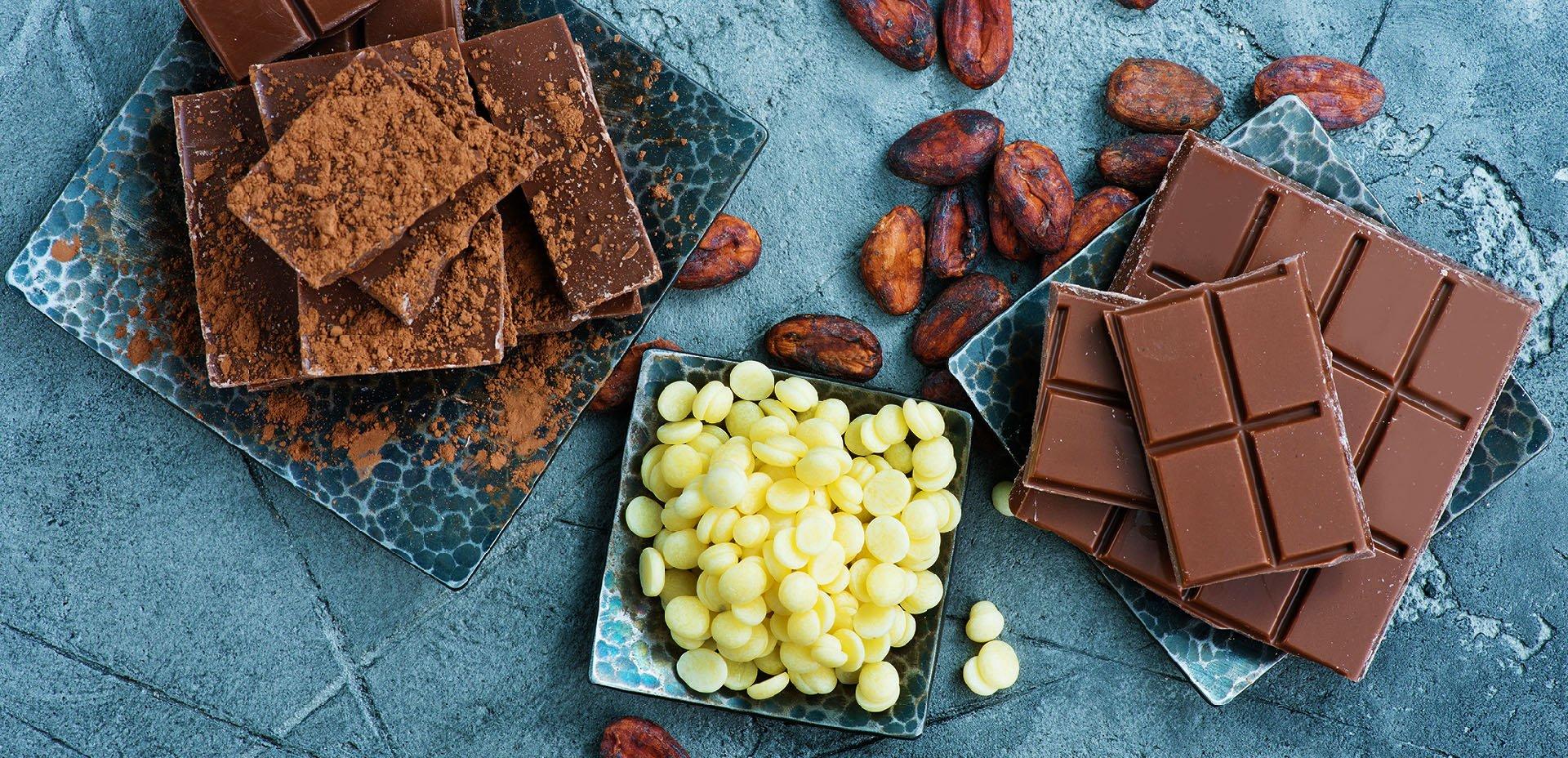 fave di cacao, burro di cacao, cioccolato