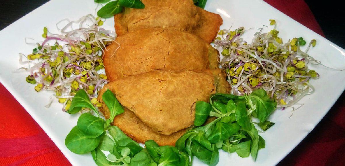 Panzerotti di quinoa con bieta e porcini