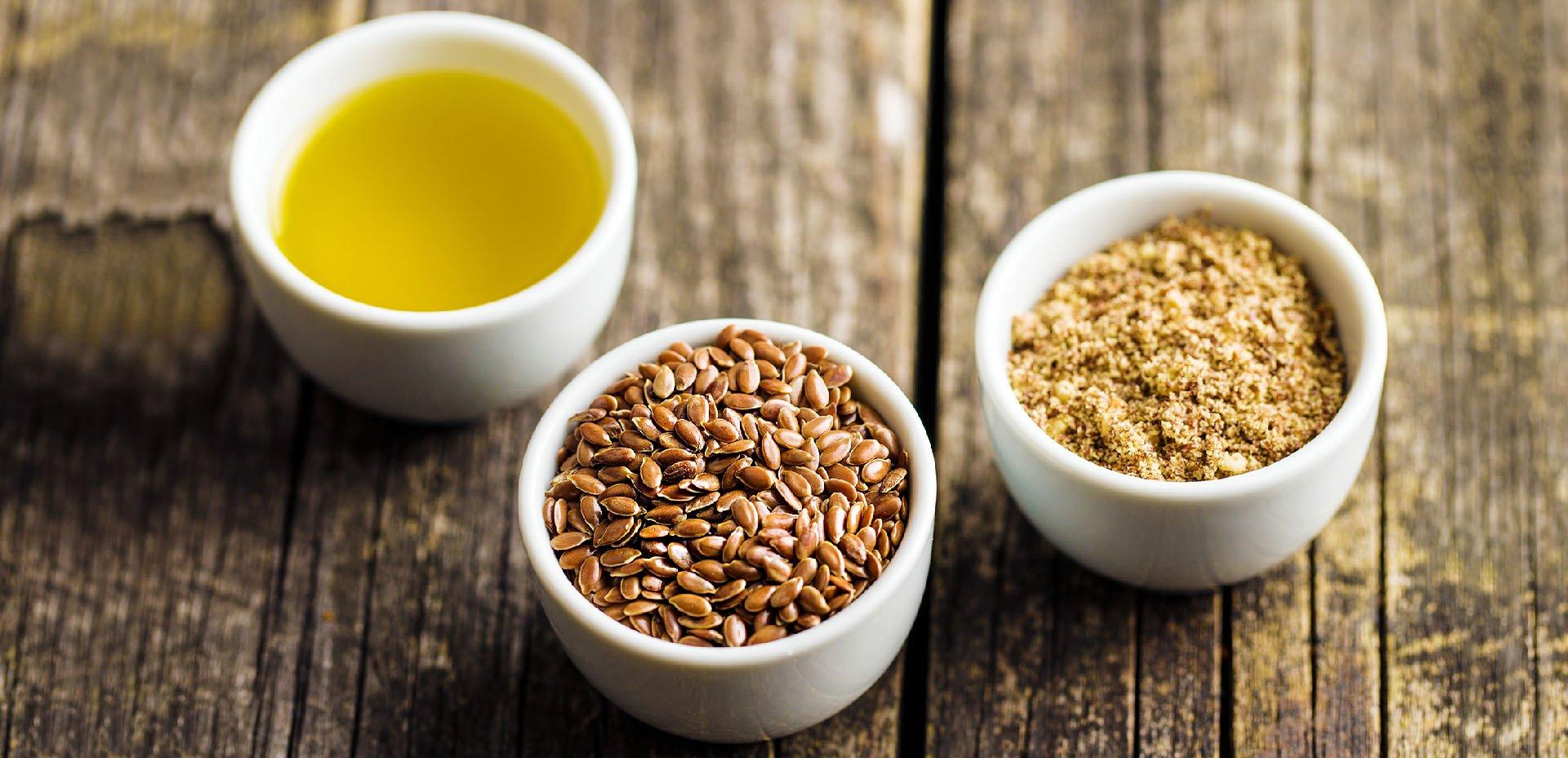 semi, farina e olio di lino