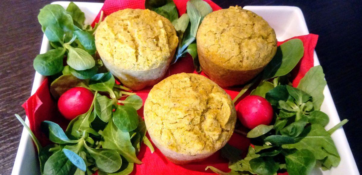 Muffin alla rucola e fonio