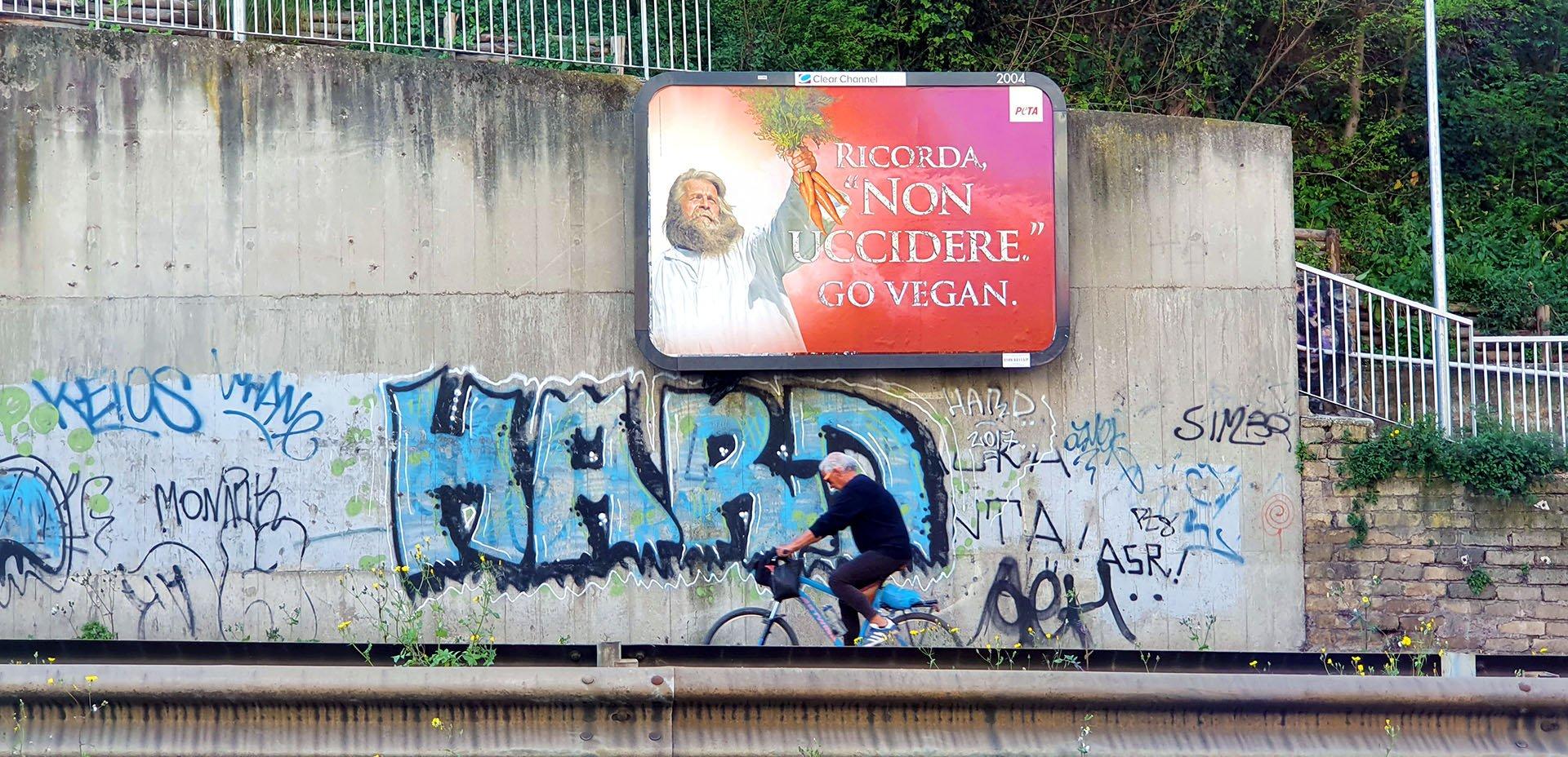 cartello pasquale Non Uccidere, Peta