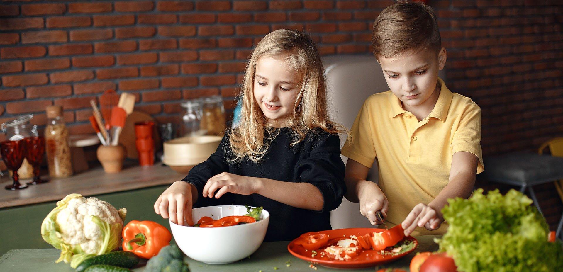 bambini e verdura