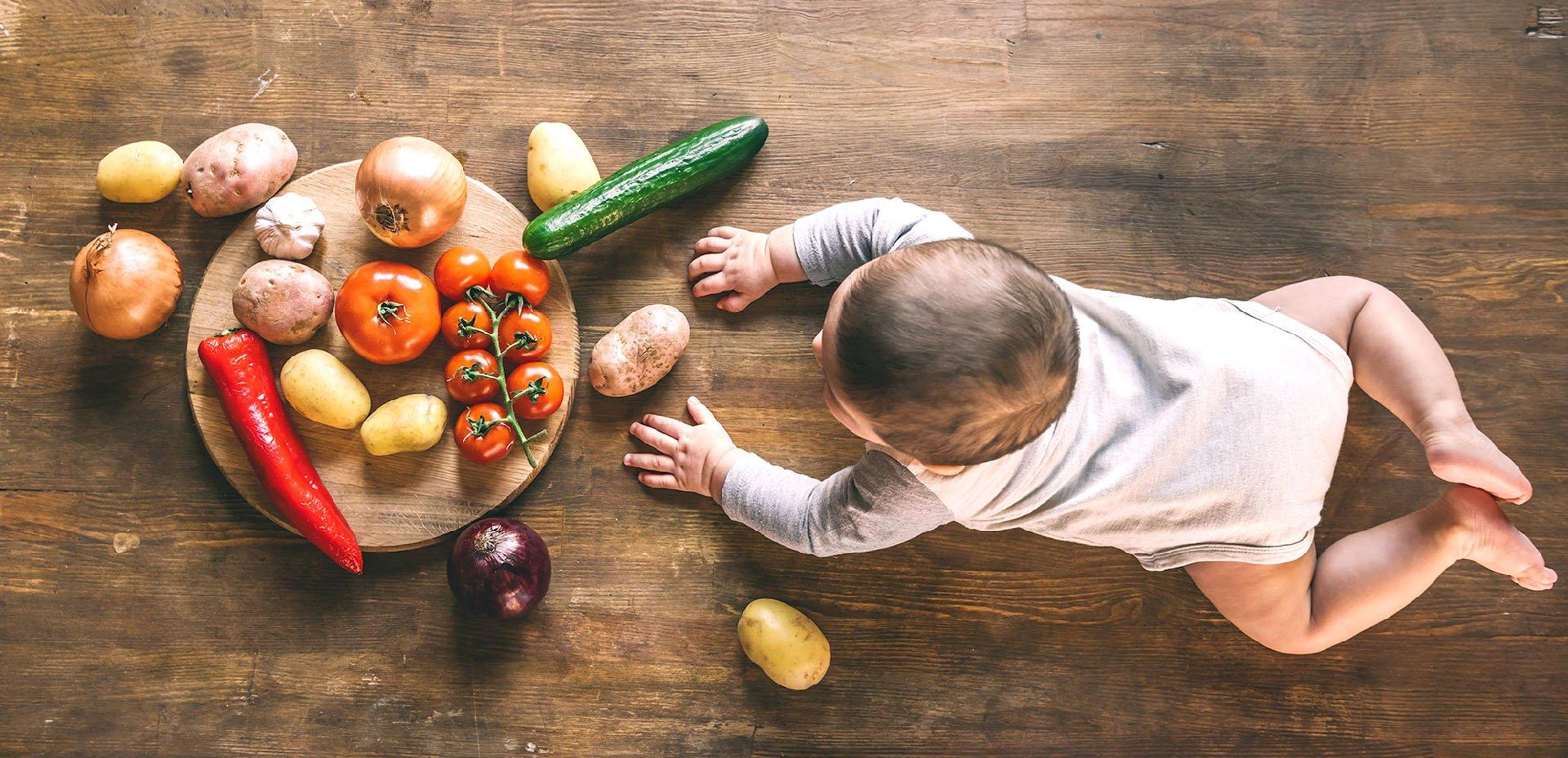 ortaggi e bambino