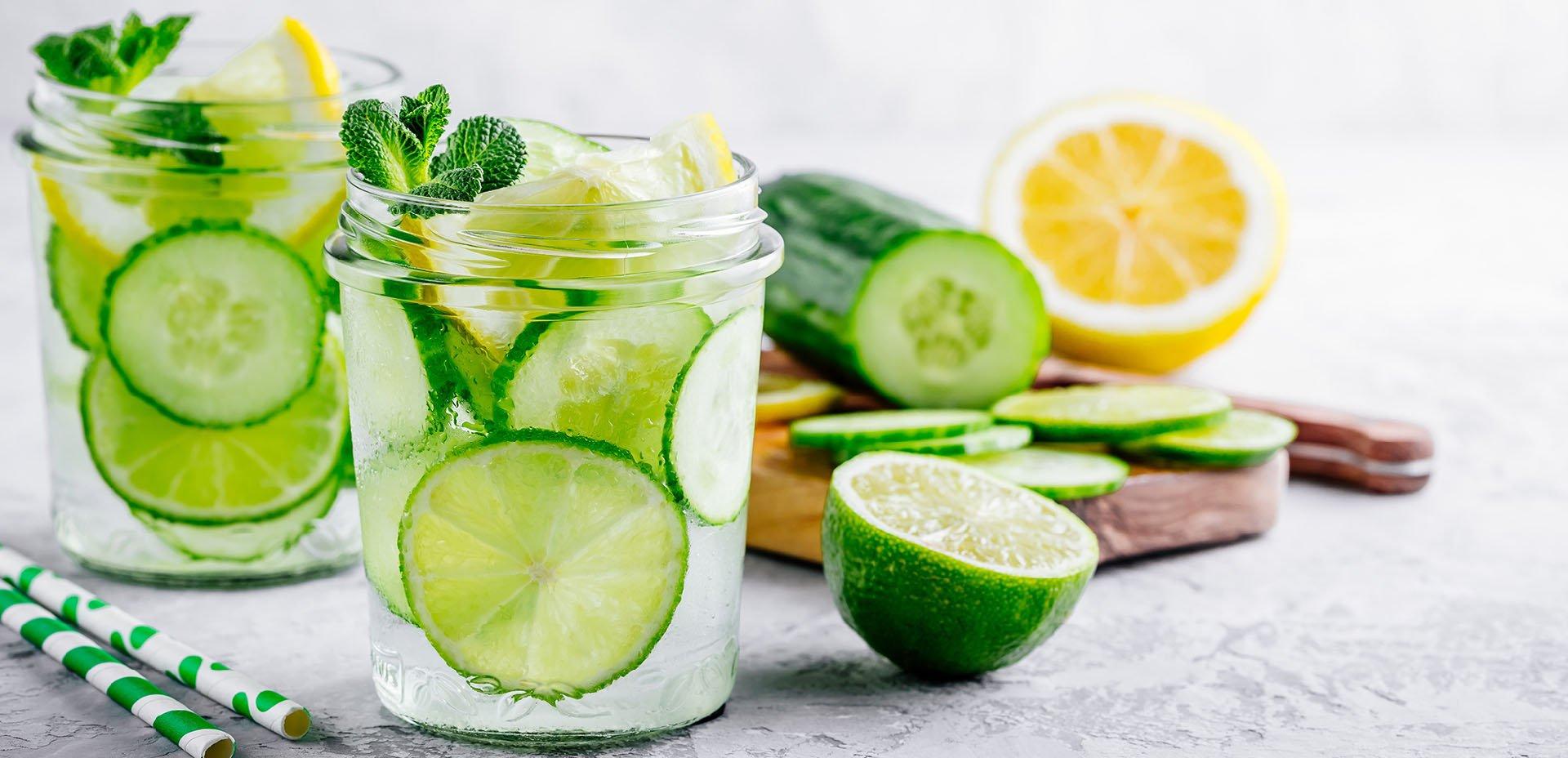 acqua al cetriolo e al limone