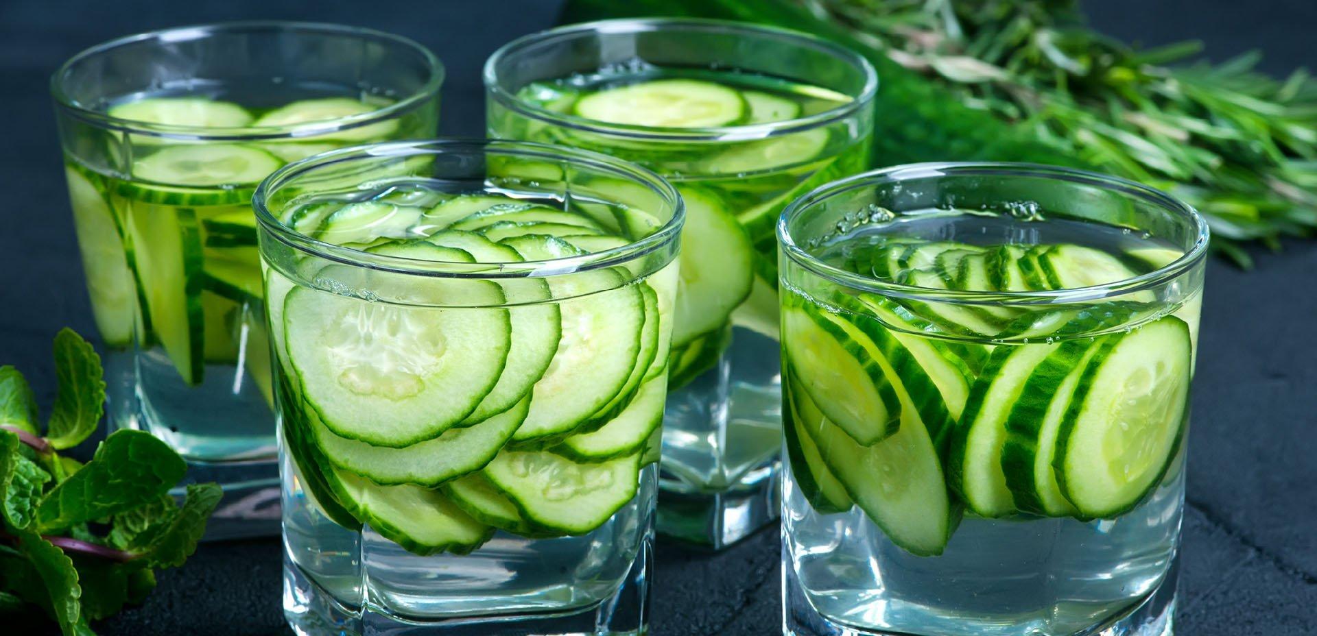 acqua aromatizzata al cetriolo