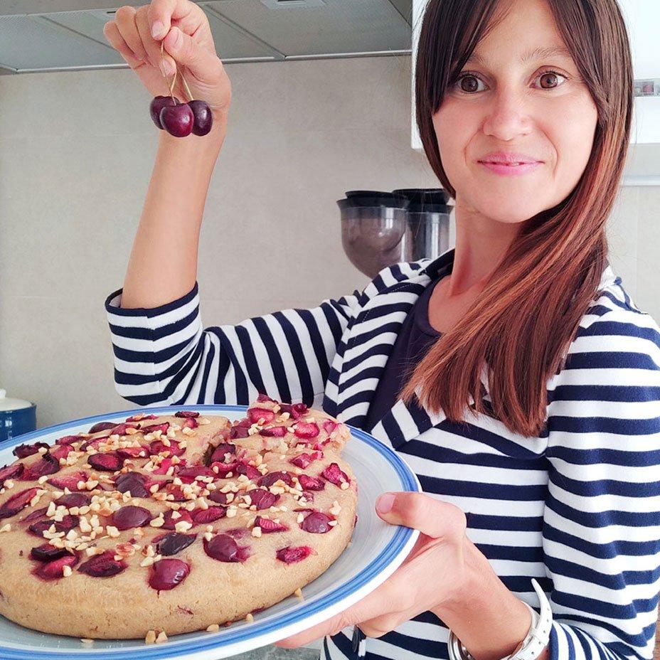 Isabella Vendrame, torta di riso integrale allo yogurt e ciliegie