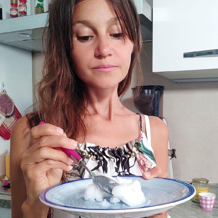Isabella Vendrame e olio di cocco