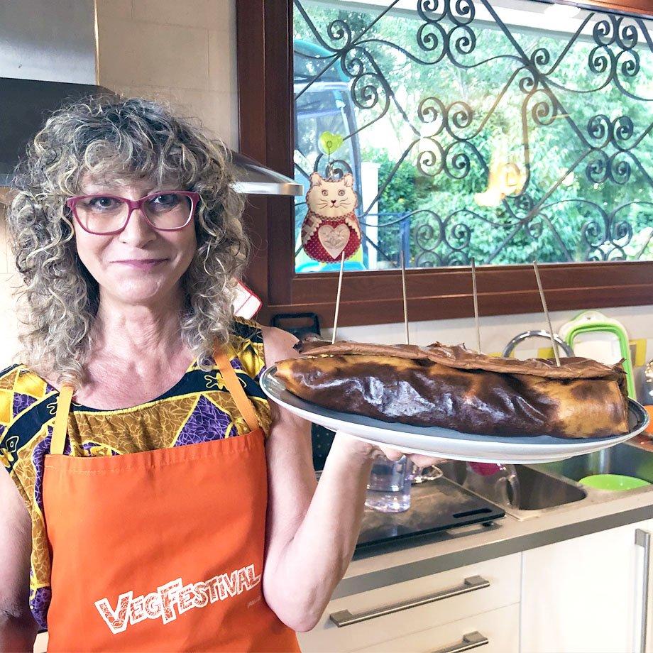Luciana Baroni in cucina