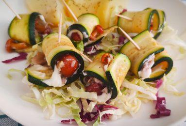Involtini di zucchine e funghetti