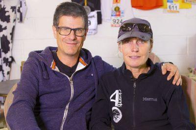 maratoneta vegan Fiona Oakes e Massimo Leopardi