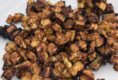 Melanzane fritte in friggitrice ad aria