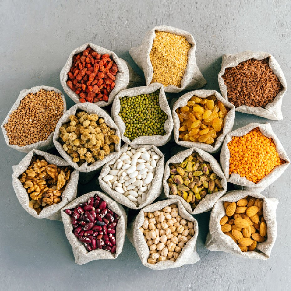 legumi, frutta secca, semi,